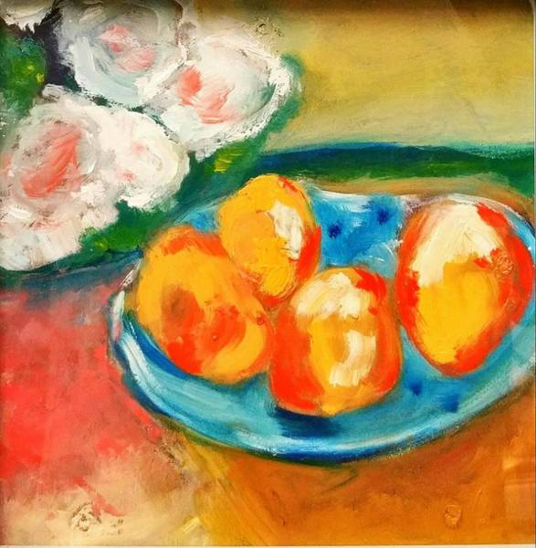 Painting - Peaches by Constance Paul
