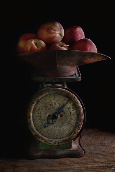 Wall Art - Photograph - Peaches On Scale by Richard Rizzo