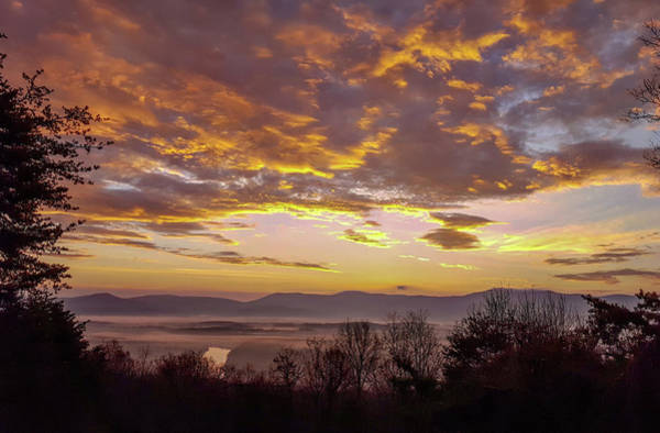 Photograph - Peachy Shenandoah Valley Sunrise by Lara Ellis