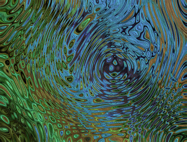 Wall Art - Painting - Peacock Feather Abstract by Jack Zulli