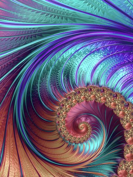 Digital Art - Peacock Feathers by Erika Fawcett