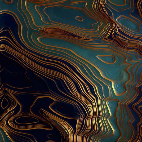 Fluid Digital Art - Peacock Ocean by Spacefrog Designs