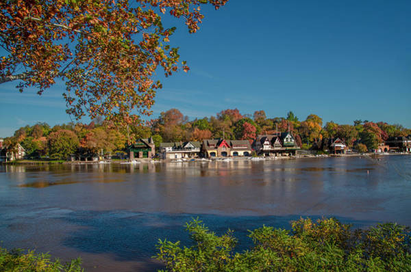 Photograph - Peak Autumn Colors - Boathouse Row - Philadelphia by Bill Cannon