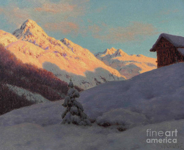 Wall Art - Painting - Peaks In The Engadine by Ivan Fedorovich Choultse