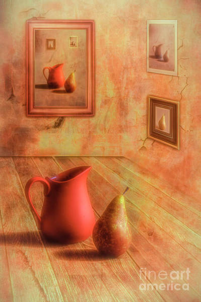 Wall Art - Digital Art - Pear And Jug by Veikko Suikkanen