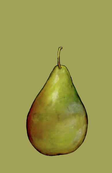 Engels Painting - Pear Monoprint On Paper by Sarah Thompson-engels