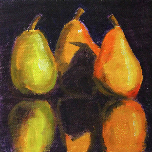 Wall Art - Painting - Pear Shadows Still Life by Nancy Merkle