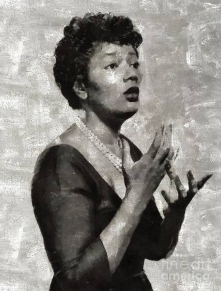 Wall Art - Painting - Pearl Bailey, Music Legend by Mary Bassett