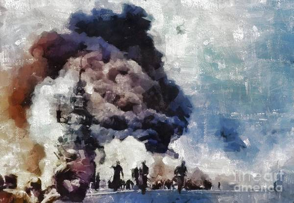 Wall Art - Painting - Pearl Harbor, Wwii by Mary Bassett