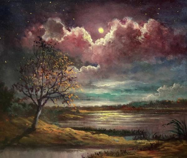 Painting - Pearl Of The Night by Randy Burns