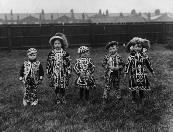 English Culture Photograph - Pearly Kids by Hulton Collection