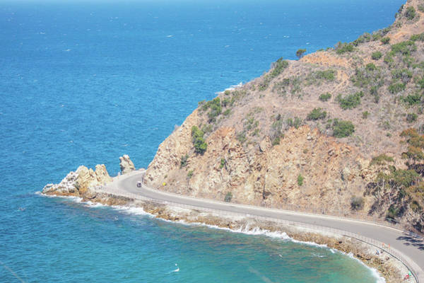 Promontory Point Photograph - Pebbly Beach Road  by Art Spectrum