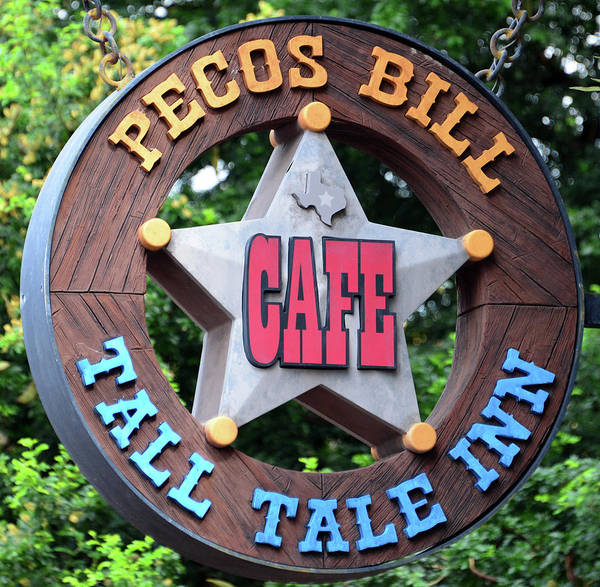 Wall Art - Photograph - Pecos Bill Cafe Sign by David Lee Thompson