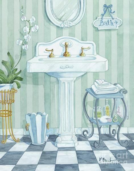 Sink Painting - Pedestal Sink by Paul Brent