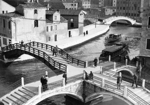 Photograph - Pedestrian Bridges Over Canals In by Lass