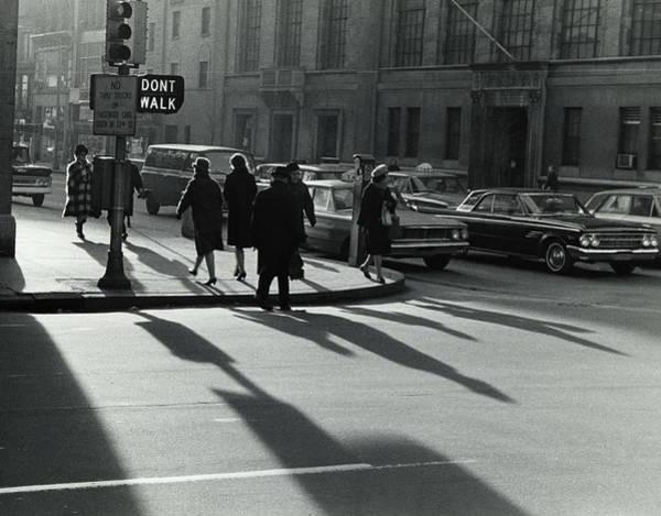 Photograph - Pedestrians At Street Corner In New by Alfred Gescheidt