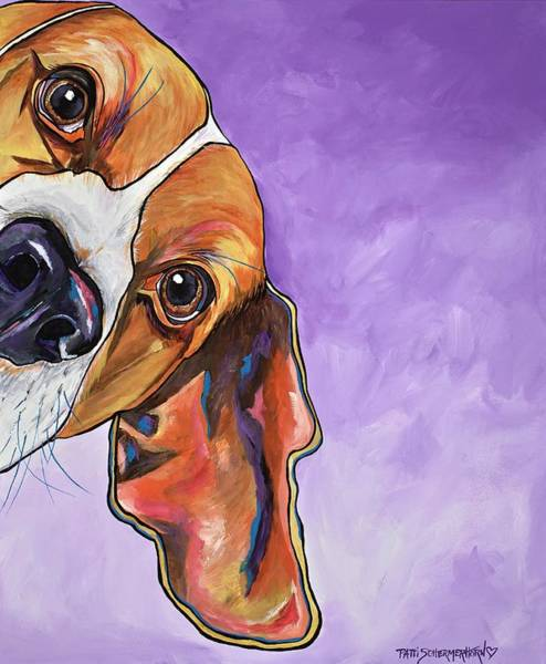 Painting - Peek A Boo Beagle by Patti Schermerhorn