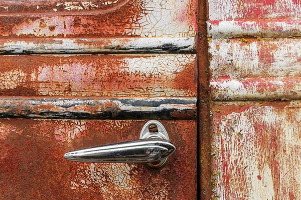 Wall Art - Photograph - Peeling Paint And Door Handle by Adam Jones