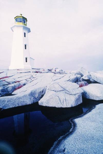Wall Art - Photograph - Peggy Cove Light House, Canada by Bill Lai