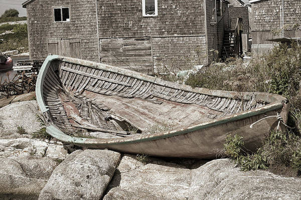 Photograph - Peggy's Cove Dory by WB Johnston