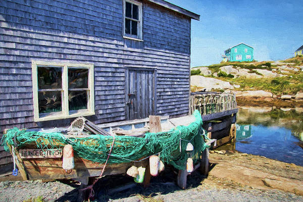 Digital Art - Peggys Cove - Hunger And Thirst by Peggy Collins