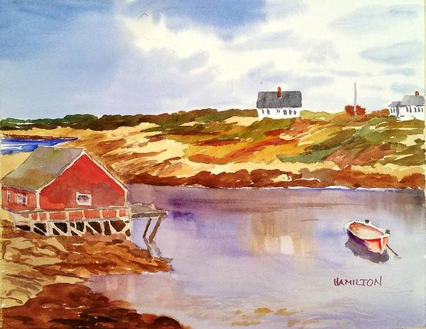 Painting - Peggy's Cove by Larry Hamilton