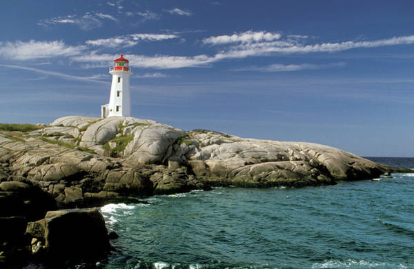 Wall Art - Photograph - Peggys Cove Lighthouse, Nova Scotia by Dennis Macdonald