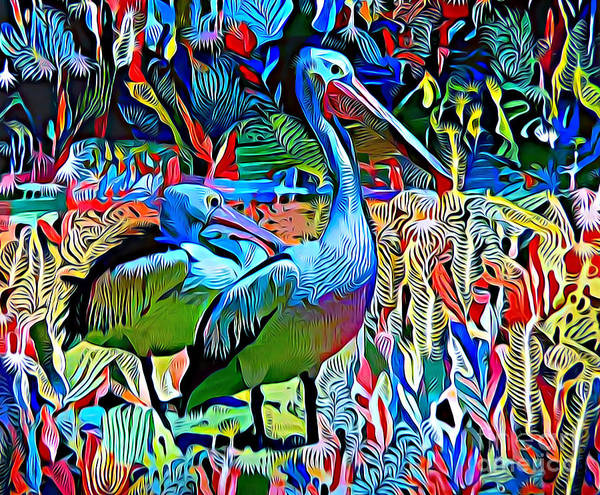 Pelican Mixed Media - Pelican Heaven. by Trudee Hunter