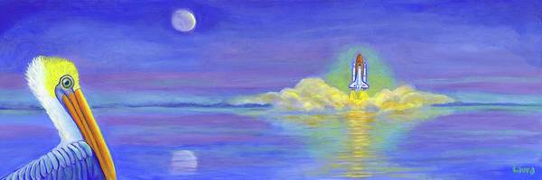 Wall Art - Painting - Pelican Launch by Laura Zoellner