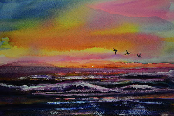 Painting - Pelican Sunrise  by Julianne Felton