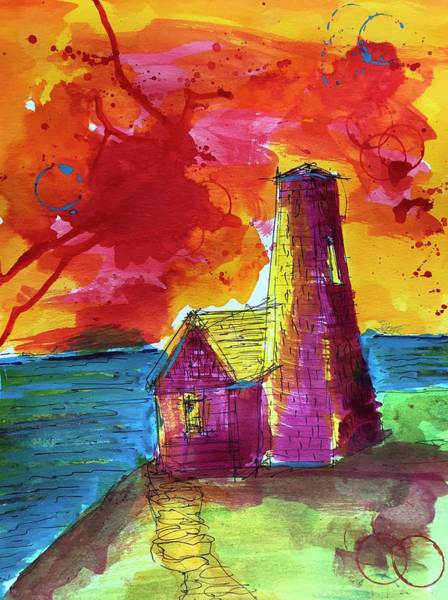 Drawing - Pemaquid 2 by Jason Nicholas