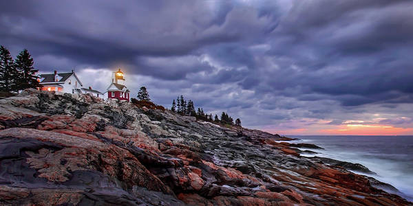 Photograph - Pemaquid Lightnouse Morning by Harriet Feagin