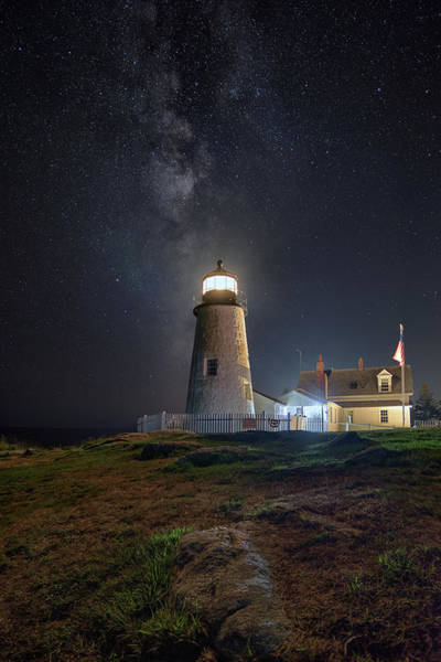 Photograph - Pemaquid Point And The Milky Way by Kristen Wilkinson