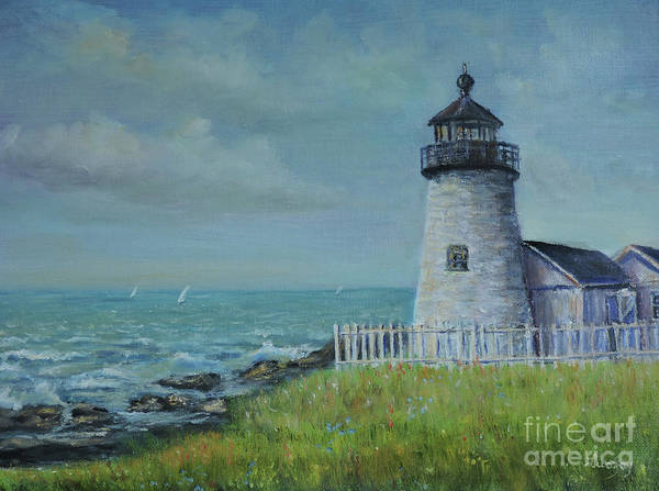 Painting - Pemaquid Point Lighthouse by Katalin Luczay