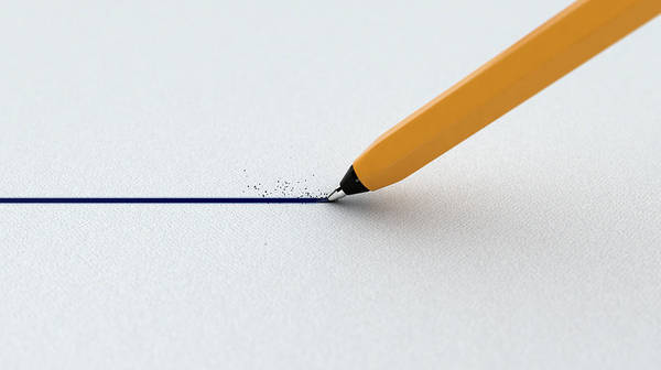 Straight Digital Art - Pen Drawing Line by Allan Swart