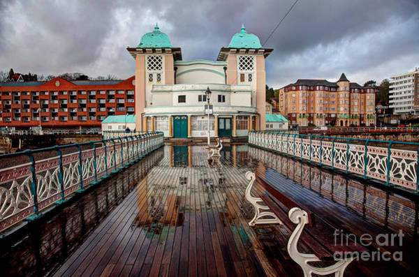 Wales Wall Art - Photograph - Penarth Pier And Seafront After A Heavy by Gail Johnson