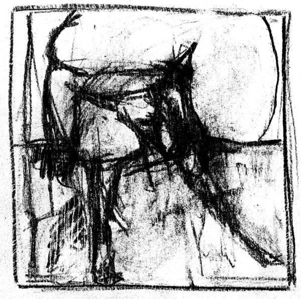 Digital Art - Pencil Squares Black Cat B by Artist Dot