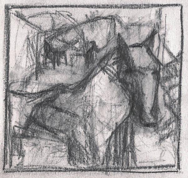 Drawing - Pencil Squares Family Farm E by Artist Dot