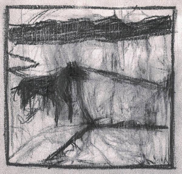 Drawing - Pencil Squares Farm A by Artist Dot
