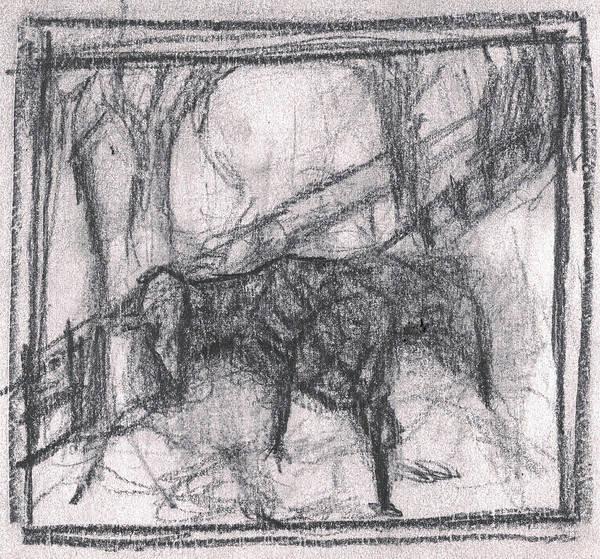 Drawing - Pencil Squares Farm F by Artist Dot