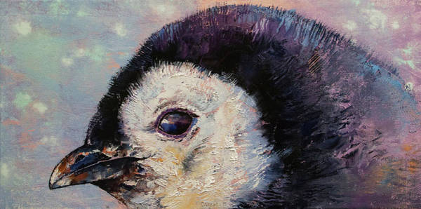 Wall Art - Painting - Penguin Chick by Michael Creese