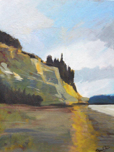 Wall Art - Painting - Peninsula Landscape by Nancy Merkle