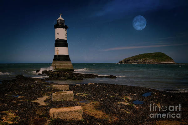 Photograph - Penmon Lighthouse And Puffin Island by Adrian Evans