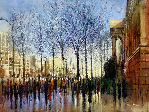 Wall Art - Painting - Penn Avenue Stroll by Dan Nelson