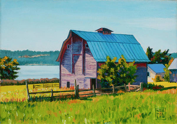 Wall Art - Painting - Penn Cove Barn by Stacey Neumiller
