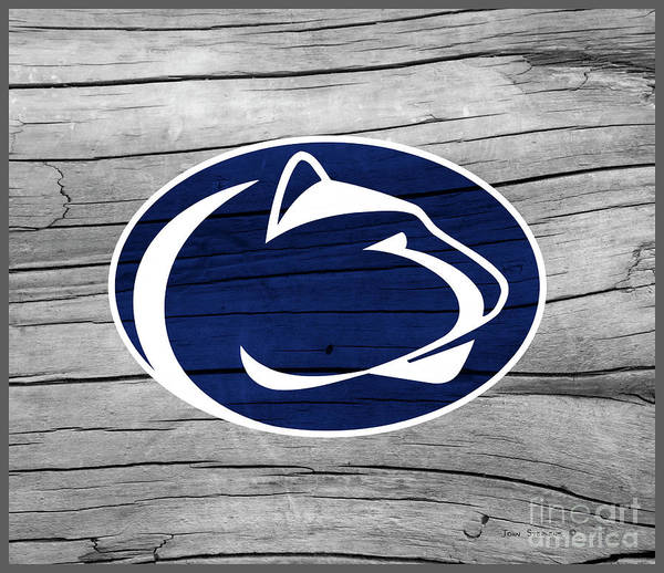 Wall Art - Photograph - Penn State Nittany Lion On Rustic Wood by John Stephens