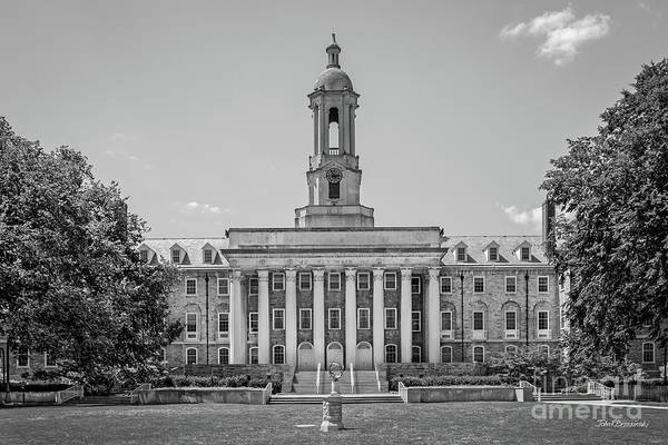 State College Photograph - Penn State Old Main  by University Icons