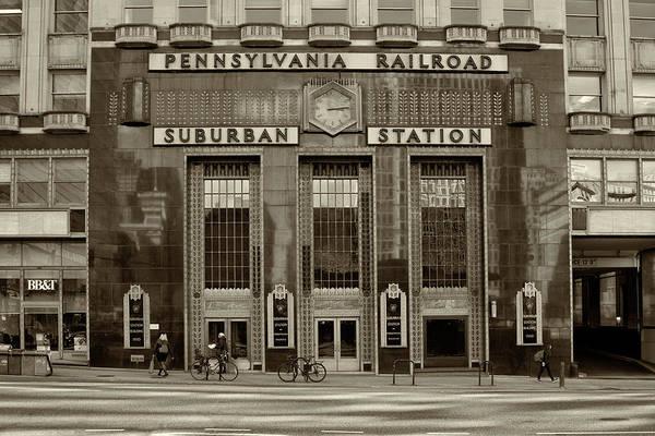 Photograph - Pennsylvania Railroad Suburban Station - Philadelphia In Sepia by Bill Cannon