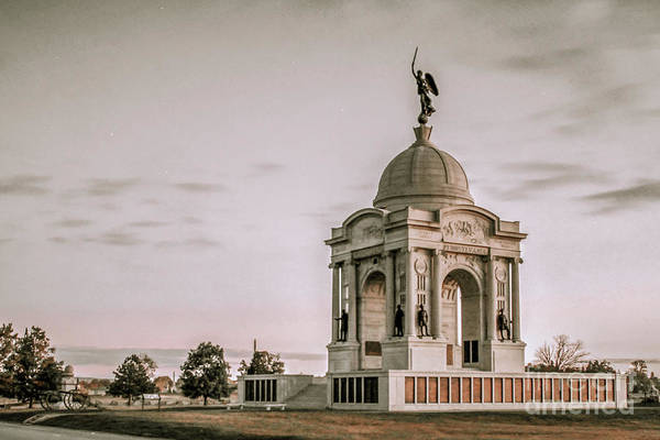 Wall Art - Digital Art - Pennsylvania State Memorial Gettysburg Battlefield  by Randy Steele