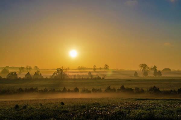 Wall Art - Photograph - Pennsyvania Farm Sunrise - Gettysburg by Bill Cannon